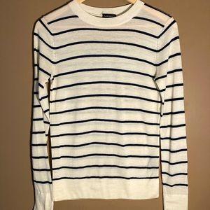 Club Monaco striped navyextra fine merino sweater